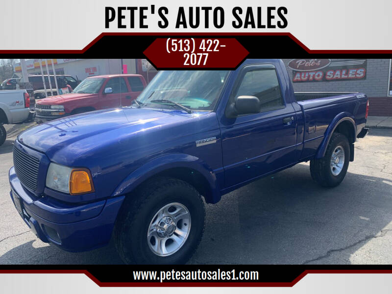 2004 Ford Ranger for sale at PETE'S AUTO SALES LLC - Middletown in Middletown OH