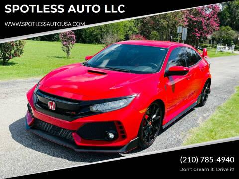 2017 Honda Civic for sale at SPOTLESS AUTO LLC in San Antonio TX