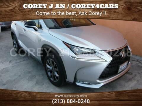 2016 Lexus NX 200t for sale at WWW.COREY4CARS.COM / COREY J AN in Los Angeles CA