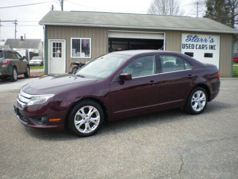 2012 Ford Fusion for sale at Starrs Used Cars Inc in Barnesville OH