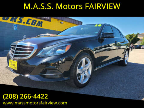 2014 Mercedes-Benz E-Class for sale at M.A.S.S. Motors - Fairview in Boise ID