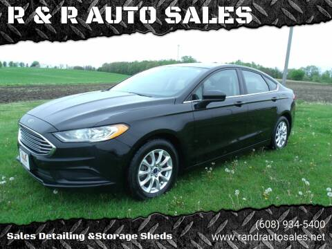 2017 Ford Fusion for sale at R & R AUTO SALES in Juda WI