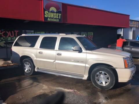 2006 Cadillac Escalade ESV for sale at Sunset Auto Sales & Repair in Lasalle CO