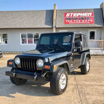 2006 Jeep Wrangler for sale at Stephen Motor Sales LLC in Caldwell OH