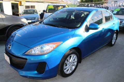 2012 Mazda MAZDA3 for sale at FJ Auto Sales in North Hollywood CA