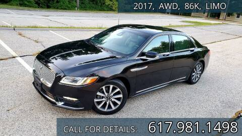 2017 Lincoln Continental for sale at Wheeler Dealer Inc. in Acton MA
