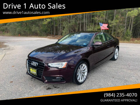 2015 Audi A5 for sale at Drive 1 Auto Sales in Wake Forest NC