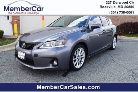 2013 Lexus CT 200h for sale at MemberCar in Rockville MD