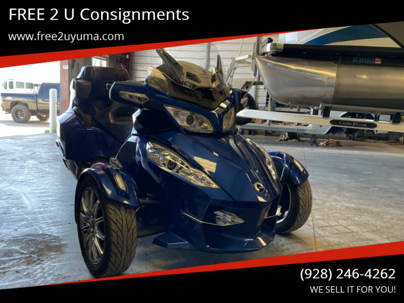 2013 Can-Am Spyder for sale at FREE 2 U Consignments in Yuma AZ