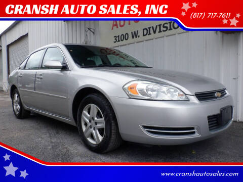 2007 Chevrolet Impala for sale at CRANSH AUTO SALES, INC in Arlington TX