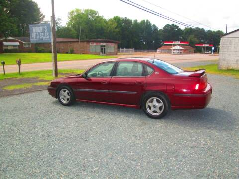 2002 Chevrolet Impala for sale at Wright's Auto Sales in Lancaster SC