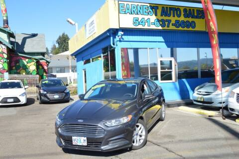 2016 Ford Fusion for sale at Earnest Auto Sales in Roseburg OR