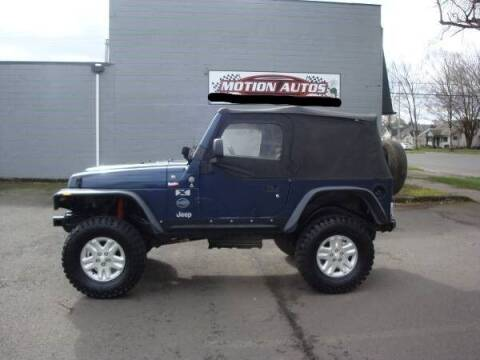 2004 Jeep Wrangler for sale at Motion Autos in Longview WA