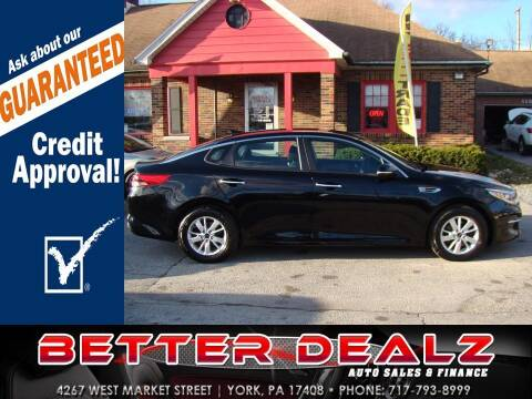 2017 Kia Optima for sale at Better Dealz Auto Sales & Finance in York PA