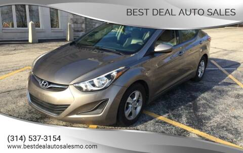 2015 Hyundai Elantra for sale at Best Deal Auto Sales in Saint Charles MO