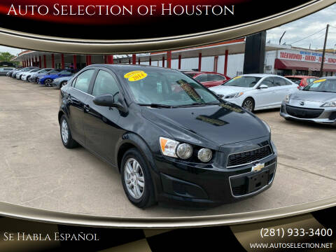2014 Chevrolet Sonic for sale at Auto Selection of Houston in Houston TX