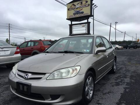 2004 Honda Civic for sale at A & D Auto Group LLC in Carlisle PA