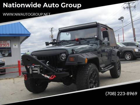 1999 Jeep Wrangler for sale at Nationwide Auto Group in Melrose Park IL