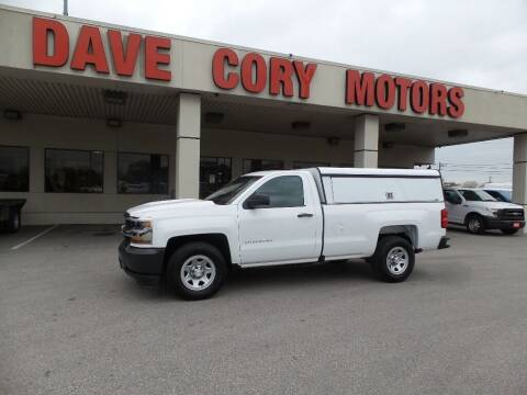 2017 Chevrolet Silverado 1500 for sale at DAVE CORY MOTORS in Houston TX