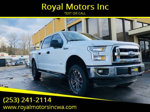 2015 Ford F-150 for sale at Royal Motors Inc in Kent WA
