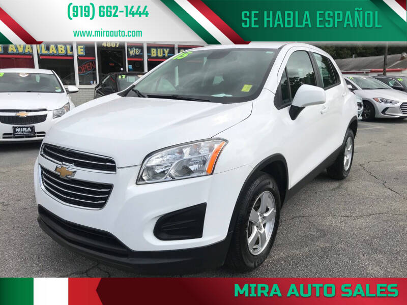 2015 Chevrolet Trax for sale at Mira Auto Sales in Raleigh NC