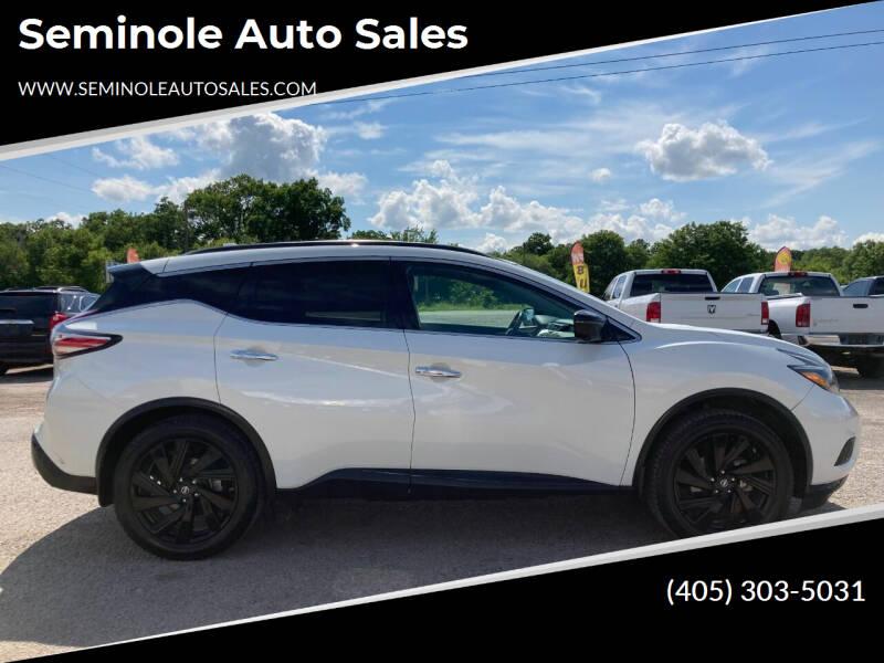 2018 Nissan Murano for sale at Seminole Auto Sales in Seminole OK