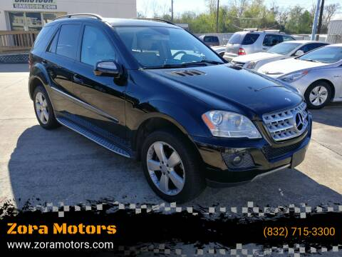 2009 Mercedes-Benz M-Class for sale at Zora Motors in Houston TX