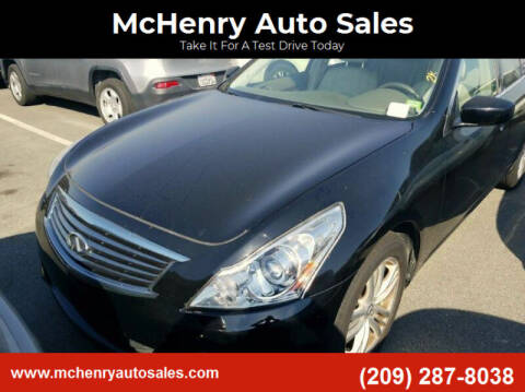 2011 Infiniti G25 Sedan for sale at McHenry Auto Sales in Modesto CA