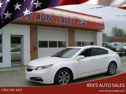 2012 Acura TL for sale at Rex's Auto Sales in Junction City KS