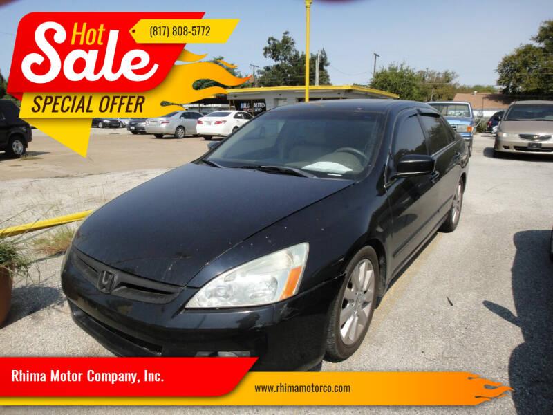 2007 Honda Accord for sale at Rhima Motor Company, Inc. in Haltom City TX