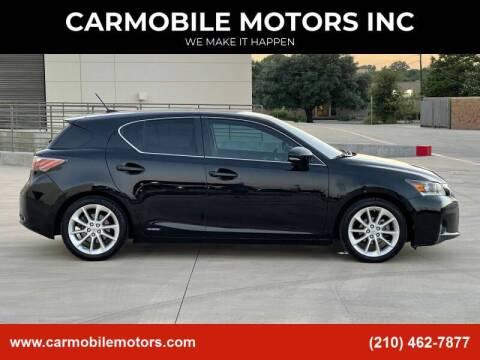 2012 Lexus CT 200h for sale at CARMOBILE MOTORS INC in San Antonio TX