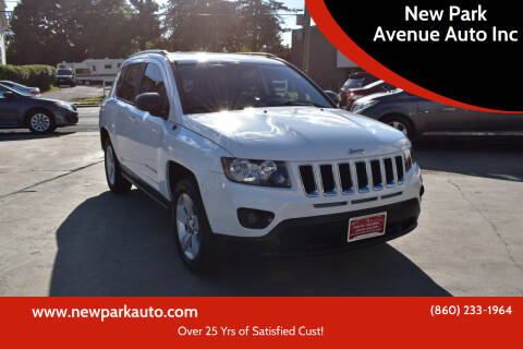 2016 Jeep Compass for sale at New Park Avenue Auto Inc in Hartford CT