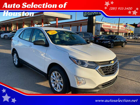 2018 Chevrolet Equinox for sale at Auto Selection of Houston in Houston TX