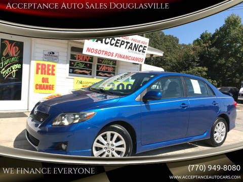 2010 Toyota Corolla for sale at Acceptance Auto Sales Douglasville in Douglasville GA