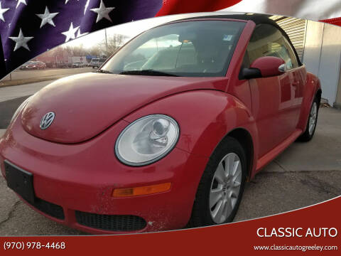 2009 Volkswagen New Beetle Convertible for sale at Classic Auto in Greeley CO