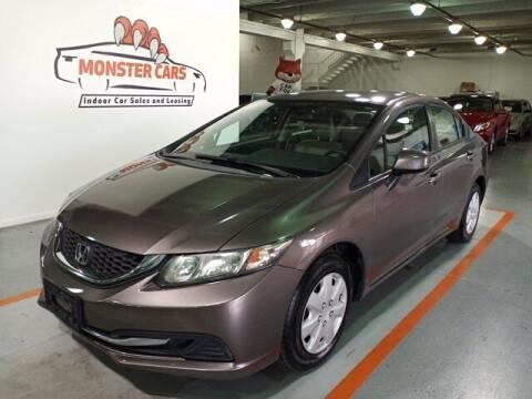 2013 Honda Civic for sale at Monster Cars in Pompano Beach FL