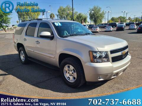 2007 Chevrolet Tahoe for sale at Reliable Auto Sales in Las Vegas NV