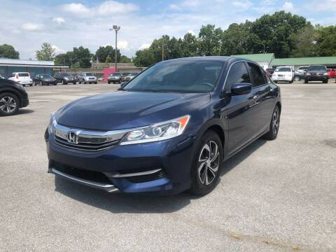 2016 Honda Accord for sale at Morristown Auto Sales in Morristown TN