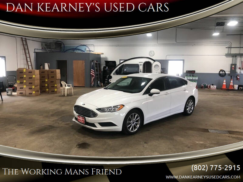 2017 Ford Fusion for sale at DAN KEARNEY'S USED CARS in Center Rutland VT