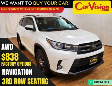 2018 Toyota Highlander for sale at Car Vision Mitsubishi Norristown in Trooper PA