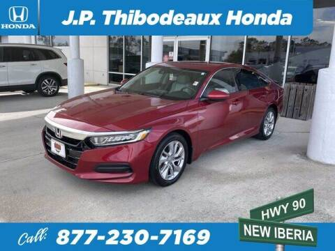 2019 Honda Accord for sale at J P Thibodeaux Used Cars in New Iberia LA