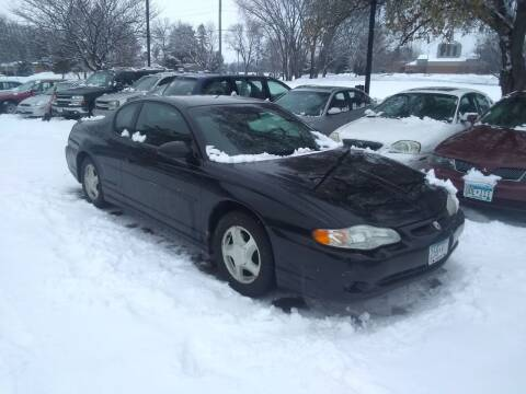 2001 Chevrolet Monte Carlo for sale at Continental Auto Sales in White Bear Lake MN