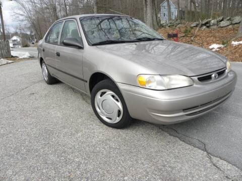 1999 Toyota Corolla for sale at STURBRIDGE CAR SERVICE CO in Sturbridge MA