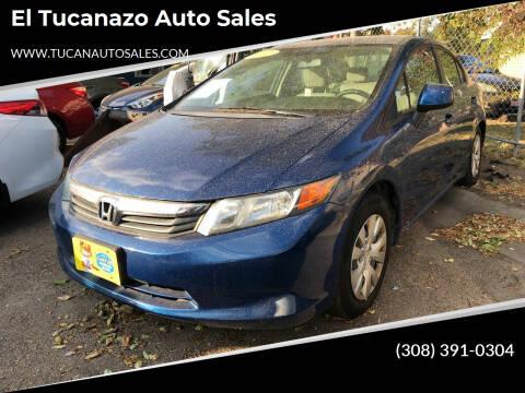 2012 Honda Civic for sale at El Tucanazo Auto Sales in Grand Island NE