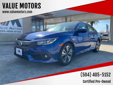 2018 Honda Civic for sale at VALUE MOTORS in Kenner LA