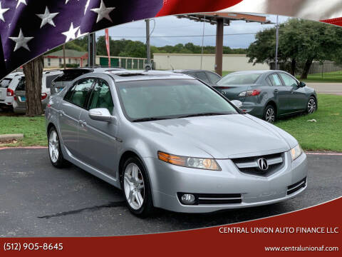 2008 Acura TL for sale at Central Union Auto Finance LLC in Austin TX