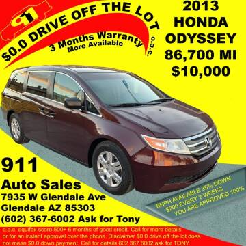 2013 Honda Odyssey for sale at 911 AUTO SALES LLC in Glendale AZ