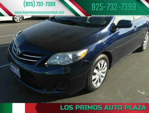 2013 Toyota Corolla for sale at Los Primos Auto Plaza in Antioch CA