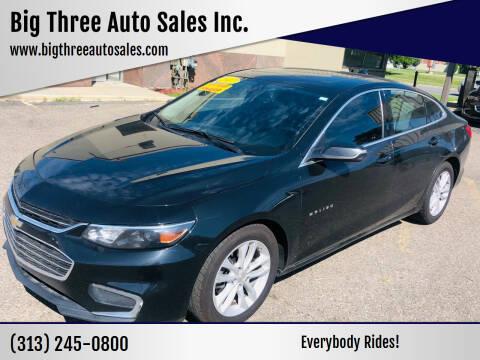 2017 Chevrolet Malibu for sale at Big Three Auto Sales Inc. in Detroit MI