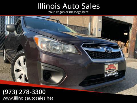 2012 Subaru Impreza for sale at Illinois Auto Sales in Paterson NJ